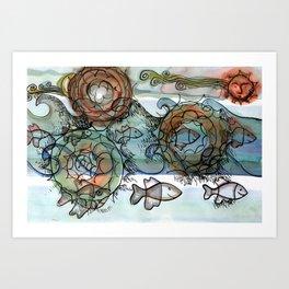 Life on the Earth Art Print