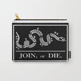 Join or Die Flag Silhouette Carry-All Pouch