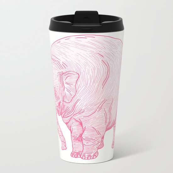 Pink Elephant Metal Travel Mug
