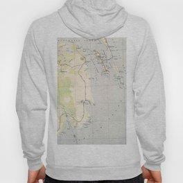 Vintage Map of Roanoke Island & Outer Banks NC Hoody
