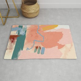 abstract brush & color study Rug
