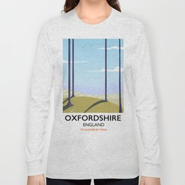 Oxfordshire vintage style travel poster Long Sleeve T-shirt