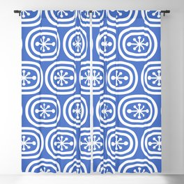 Mid Century Modern Atomic Bands Pattern Blue 2 Blackout Curtain