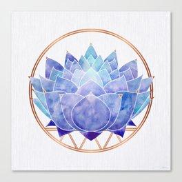 Violet Zen Lotus Canvas Print