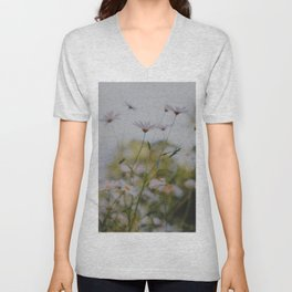 Abstract Flowers Unisex V-Neck