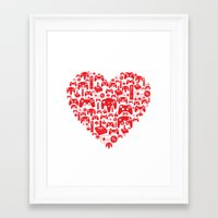gaming Framed Art Prints featuring Gaming Love by Tombst0ne
