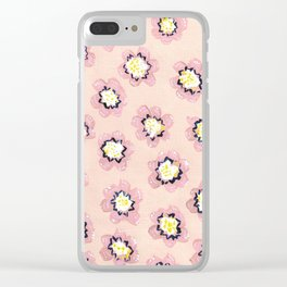 Blush Mary Abigail Rose Clear iPhone Case