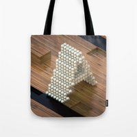 3d Tote Bags featuring 3d by Posticks