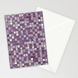 Glitter Purple Mosaic Pattern Stationery Cards