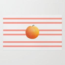 Ruston Peach Rugby Stripe Rug