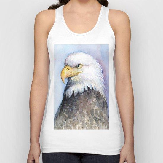 Bald Eagle Watercolor Bird Wildlife Animals Unisex Tank Top