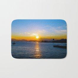 Sunset in Star Ferry Pier, Hong Kong Bath Mat