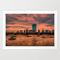 Longfellow Bridge , Boston, Massachusetts Art Print