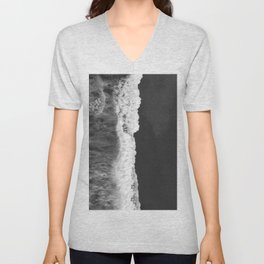 The Sea (Black and White) Unisex V-Neck