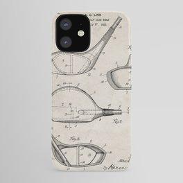 Golf Driver Patent - Golf Art - Antique iPhone Case