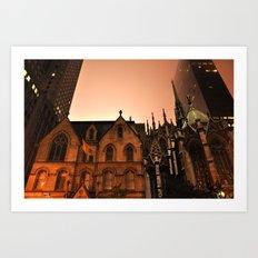 Gotham Church Art Print