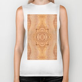 Olive wood surface texture abstract Biker Tank