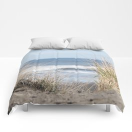 The Beach Beckons    Path To Ocean Shore Comforters