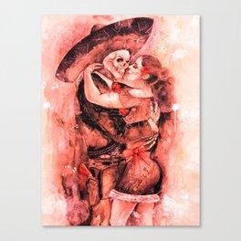 "Un Ultimo Baile ""Red-Dead"" version Canvas Print"