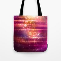 halo Tote Bags featuring Sun Halo by Tom Lee