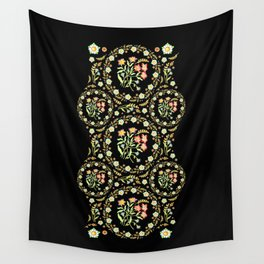 Victorian Flower Crown Wall Tapestry
