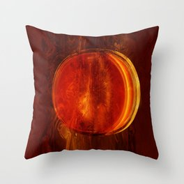 meditation orange Throw Pillow