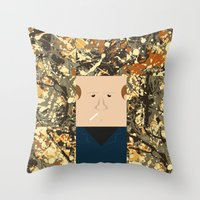 percy jackson Throw Pillows featuring Jackson  by Macu