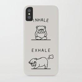 Inhale Exhale English Bulldog iPhone Case
