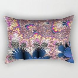 Floral Fractal 02 Rectangular Pillow