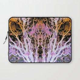 Neon Mirrored Trees Laptop Sleeve