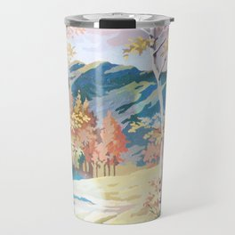 Paint by Number Road to the Mountains Travel Mug