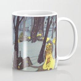 Snowy Night On The Road Coffee Mug