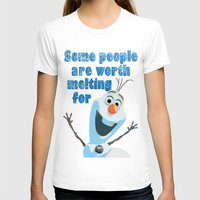 olaf T-shirts featuring OLAF by DisPrints