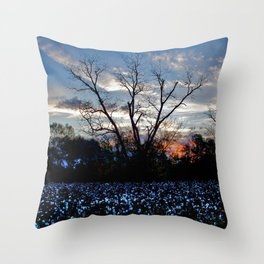 Another Early Morning in the Cotton Field Throw Pillow