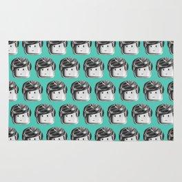 Minifigure Pattern – Teal Rug