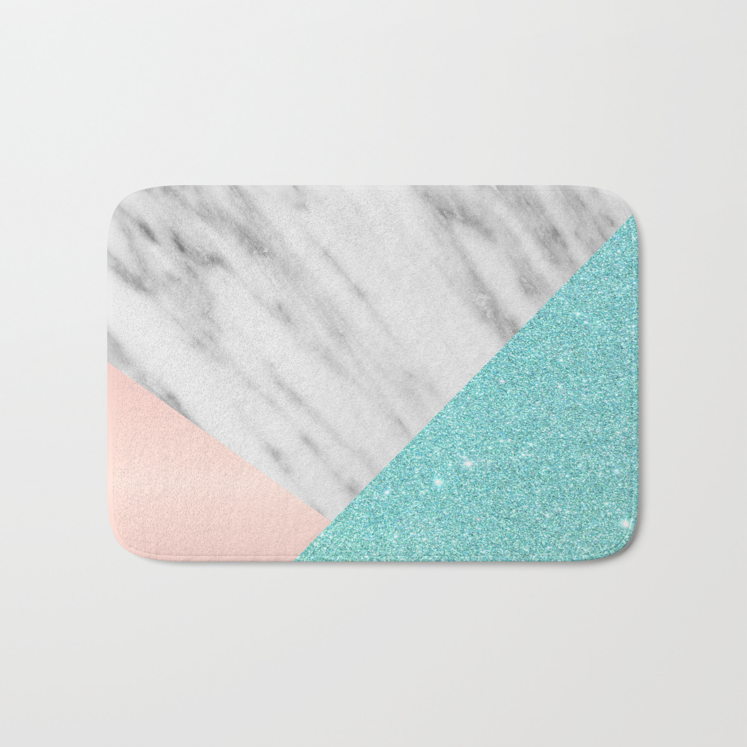 Real Italian Marble With Pink And Blue Bath Mat By Cafelab Society6