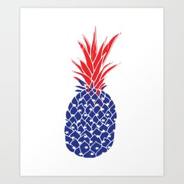 Pineapple USA Fourth Of July Shirt | 4th of July TShirt | Fourth Of July T- Shirt | Pineapple Tank Art Print