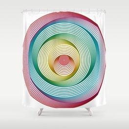 Shifting Circles Shower Curtain
