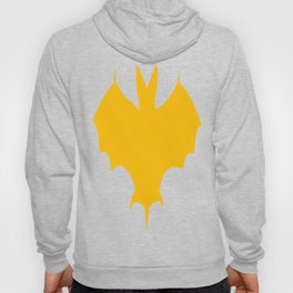 Orange-Yellow Silhouette Of a Bat  Hoody
