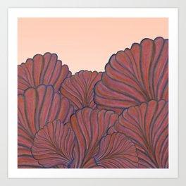 Australica Coral Shell Love Art Print