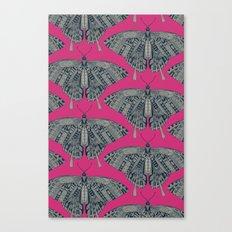 swallowtail butterfly pink indigo Canvas Print