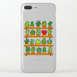 Love Yourself Cactus Heart Clear iPhone Case