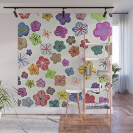 Floral art mille fiori Wall Mural