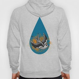 Astute swallow on a orange stain Hoody