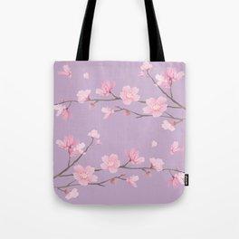 Cherry Blossom - Pale Purple Tote Bag