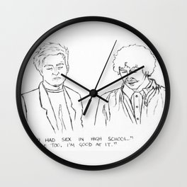 Friends quote Wall Clock