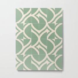 Rustic Chios Messy Tiles Metal Print