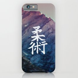 Vaporwave Mountain iPhone Case