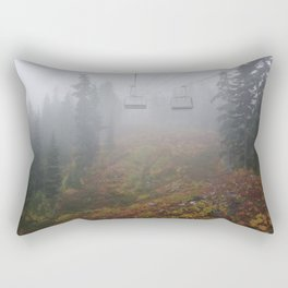 Foggy mountains fall morning Rectangular Pillow