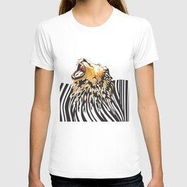 lion barcode T-shirt